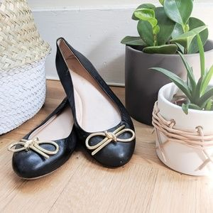 Banana Republic Leather Black Flats